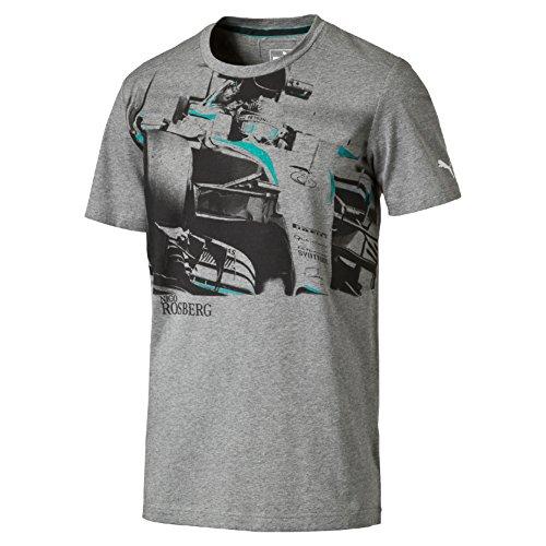 MERCEDES AMG PETRONAS Herren Rosberg Graphic Tee Grey, L T-Shirt, Grau, L