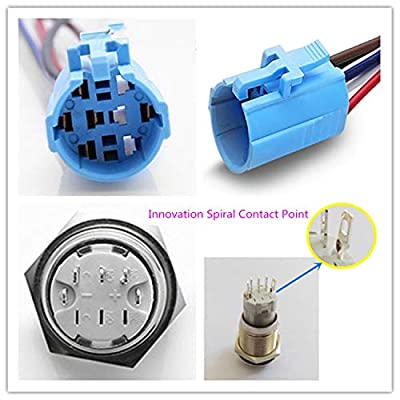 Viping Car Horn Button Switch momentary Push Button Switch 12V 16mm LED On/Off Switch Reset Switch Button Metal momentary Speaker Horn Switch Power Metal Toggle Switch Car Boat Motorcycle DIY Switch: Automotive