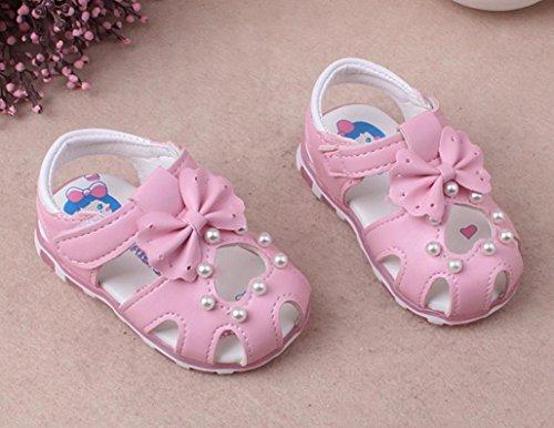 Clode® Baby Sneaker Pearl Bowknot Kinder Licht Luminous Casual Sandalen Schuhe Rosa