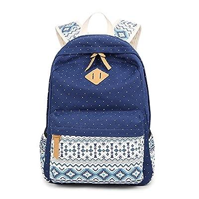 80%OFF Violet Mist Girls  Canvas Backpack Lace Floral Lightweight Bookbag  Laptop School Bag 51556f6343df6