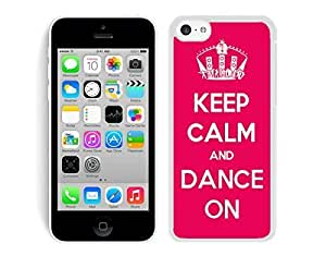 MMZ DIY PHONE CASEBINGO best quality Keep Calm And Dance ipod touch 5 Case White Cover 1