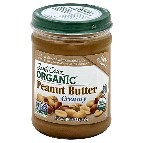 Santa Cruz Organic Light Roasted Creamy Peanut Butter, 16 oz