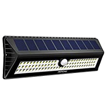 Mpow 77 LED Motion Sensor Solar Light, Bright Wall Light, 3 Optional Lighting Modes, Large Solar Panel, 120 Degree Sensing Angle,Great Outdoor Light for Garden, Driveway, Yard, Garage, Pathway and Patio