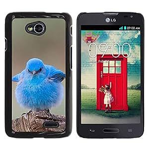 TopCaseStore / la caja del caucho duro de la cubierta de protección de la piel - Pet Bird Nature Blue Ornithology - LG Optimus L70 / LS620 / D325 / MS323