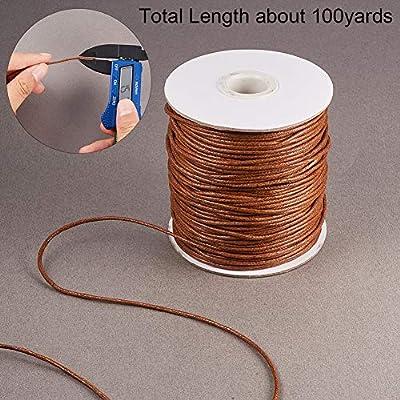 PandaHall Elite - Bobina de hilo de algodón encerado de 1,5 mm ...