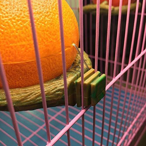 Comedero para pájaros Fruta del loro Forma de granada naranja ...