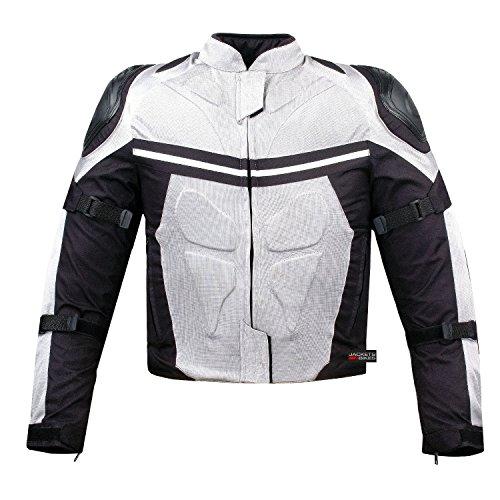 PRO MESH MOTORCYCLE JACKET RAIN WATERPROOF WHITE M by Jackets 4 Bikes (Image #1)