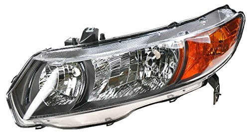 Headlight Headlamp Driver Side Left LH for 06-08 Honda Civic 2 Door Coupe