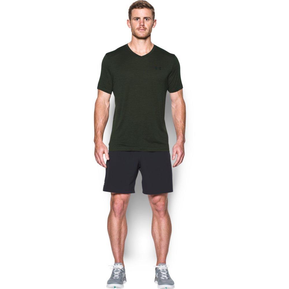 Under Armour Men's Tech V-Neck T-Shirt, Artillery Green (357)/Black, XXX-Large Tall
