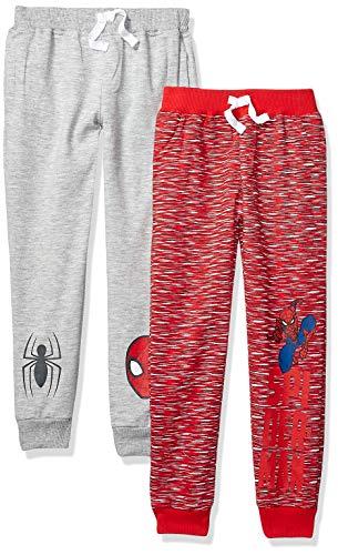 (Marvel Boys' Toddler' Spider-Man 2 Pack Jogger Set, red/Grey, 4T)