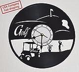 Cheap Vinyl record clock golf