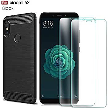 6e0c35d9ca8d03 MYLB Xiaomi Mi 6X case/Xiaomi Mi A2 case,with Xiaomi Mi 6X /Xiaomi Mi A2  screen protector. (3 in 1)[Scratch Resistant Anti-fall] fashion Soft TPU  Shockproof ...