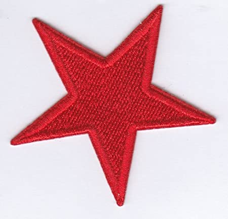 Communist Red Star 7cm Iron On Sew On Embroidered Badge Applique