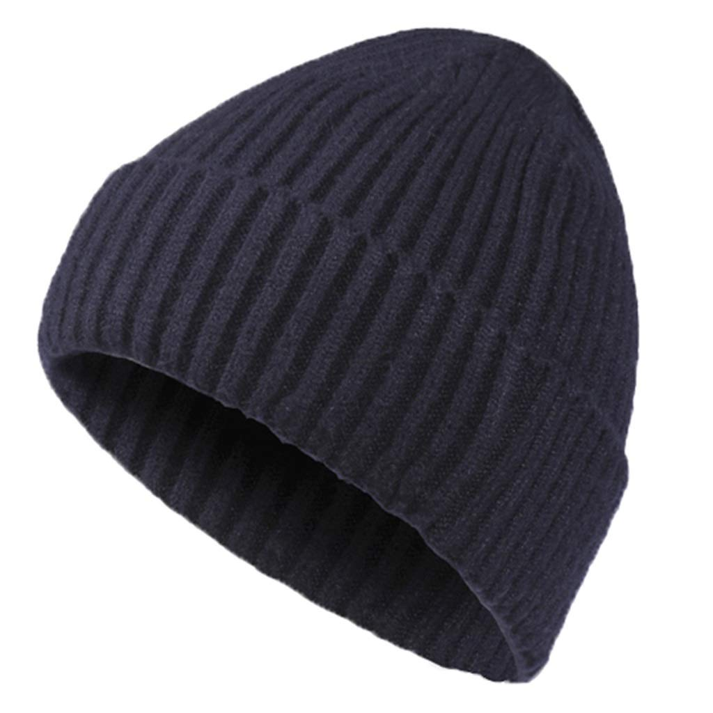 Y-yan Mens Wool Cap Mens red Light Weight and Good Warmth Keep Warm in Winter Outdoor Riding Essential Color : Blue