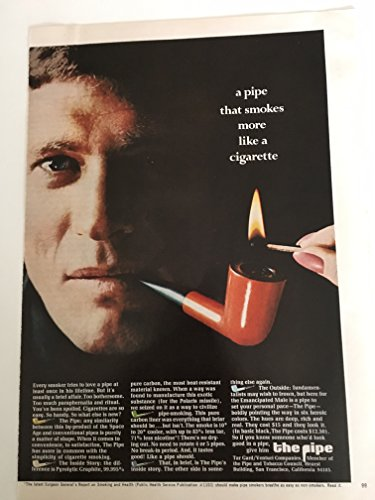 1968 The Pipe Tobacciana Magazine Print Advertisement