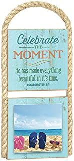 "product image for Imagine Design 5.25"" x 11.5 Gone Coastal Celebrate The Moments Photo Plaque"