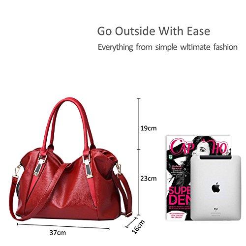 Nicole Messenger bandoulière casual nouveau Pink dames Femme Sac souple sac classique mode à Sacs main sac vin de Sac amp;Doris portable rouge la femmes Zr4qZ