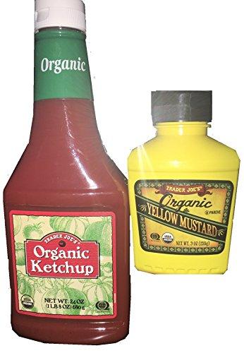Trader Joe's Organic Ketchup and Organic Yellow Mustard Bundle 2 Items