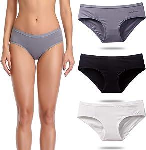Free OUXBM Women's Underwear Cotton Bikini Panties…