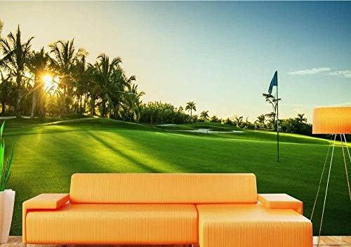 Ansyny カスタム3D壁画風景ゴルフ場緑の草地装飾リビングルームのベッドルームテレビソファ背景壁画壁紙-140X100CM