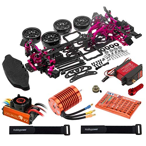 - Hobbypower 1/10 Alloy Drift Chassis Kit Leopard 60A 4730KV DS3218MG Servo for D4 RWD