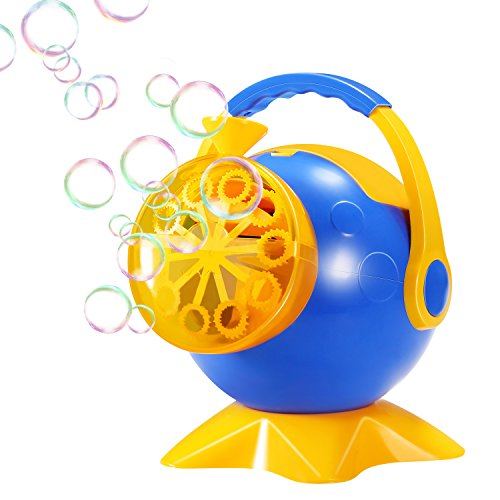 Geekper Bubble Machine, Automatic Bubble Blower Durable Bubble Maker for Kids, Over 800 Colorful Bubbles Per Minute Use