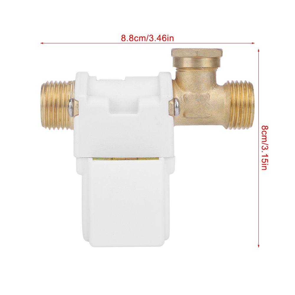 1//2 Electric Solenoid Valve DC 24V G1//2 Solar Energy Electric Solenoid Valve N//C Normally Closed for Water Supply Electrical Equipment Garden Spray Irrigation
