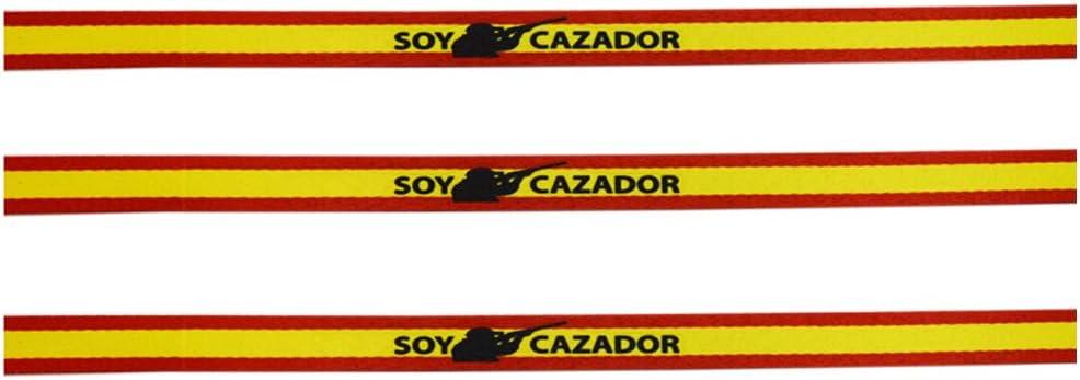 ALBERO Pulsera Soy Cazador con Bandera de España. Sublimación. 30 x 1.5cm: Amazon.es: Deportes y aire libre