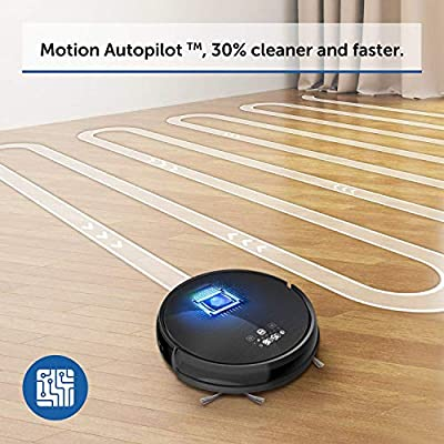 VAVA Robot Vacuum Cleaner Motion Autopilot 2nd Gen Gyroscope Navi, 1300Pa Strong Suction, Sweeping Robot for Hard Floors to Medium and Low Pile Carpets