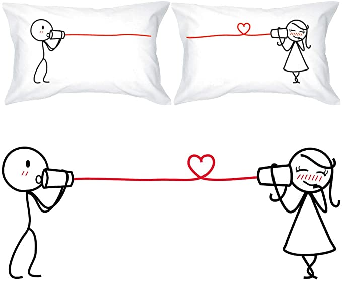 Pet Lover Gift BoldLoft Couple Pillowcases Girlfriend and Boyfriend Gift Couples Gift Dog Lover Gift His and Hers Pillowcases