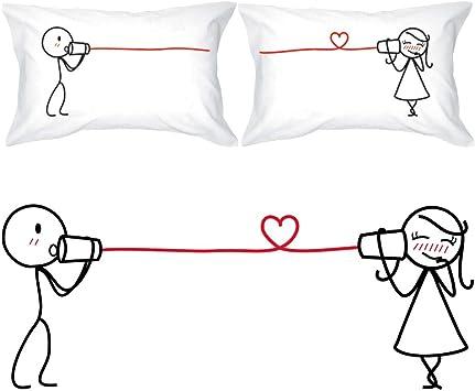 Amazon.com: BOLDLOFT fundas para almohadas para parejas con ...