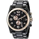 Vestal Men's DEV010 De Novo Black/Rose Gold Watch