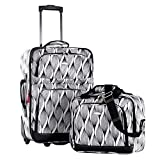 Olympia Luggage Let's Travel 2 Piece Carry-On Luggage Set, Spiral, One Size