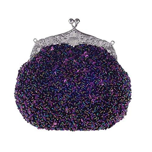 YYW Pochette Evening pour Bag Violet femme fcx18WTq0w