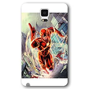 UniqueBox The Flash Custom Phone Case for Samsung Galaxy Note 4, DC comics The Flash Customized Samsung Galaxy Note 4 Case, Only Fit for Samsung Galaxy Note 4 (White Frosted Shell)