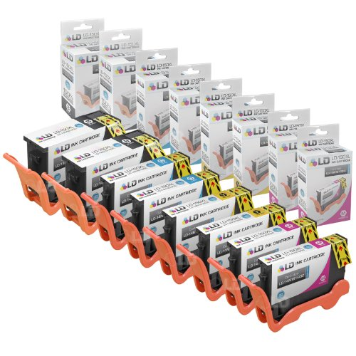 Compatible Lexmark 150XL Set of 8 HY Inkjet Cartridges: 2 Bl