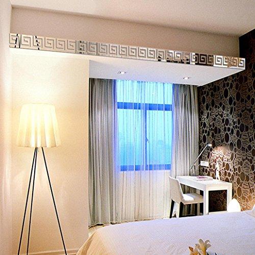 TRENDINAO Luxury 10pcs DIY Acrylic Plastic Mirror Sticker Ar-hall Bedroom Living Room Bathroom Home Decor