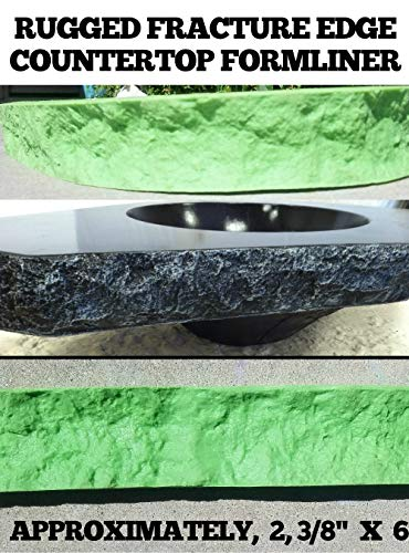 CONCRETE COUNTERTOP EDGE FORM LINERS - Rugged Fracture Edge, 2, 3/8