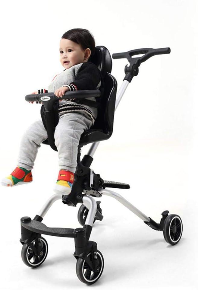 Kinderwagen | Leichter Und Tragbarer Kinderwagen | Folds Slim Für Ultrakompakte Aufbewahrung | Leichter Zweiwege-Kinderwagen Mit Vier Rädern Und Stoßdämpfung 02