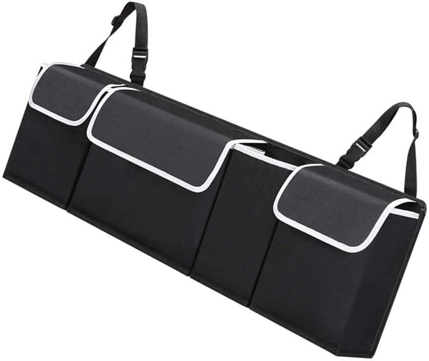 Elenxs Foldable Auto Seat Back Organizer Oxford Waterproof Collapsible Truck Storage Bag Multi Hanging Pocket