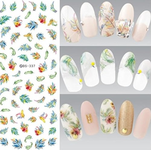 1 Sheets Harajuku Element Line Figures Nail Art Sticker Water Transfer Nails Wrap Paint Tattoos Stamp Plates Templates Tools Tips Kits First Class Popular Xmas Stick Tool Vinyls Decals Kit, Type-11