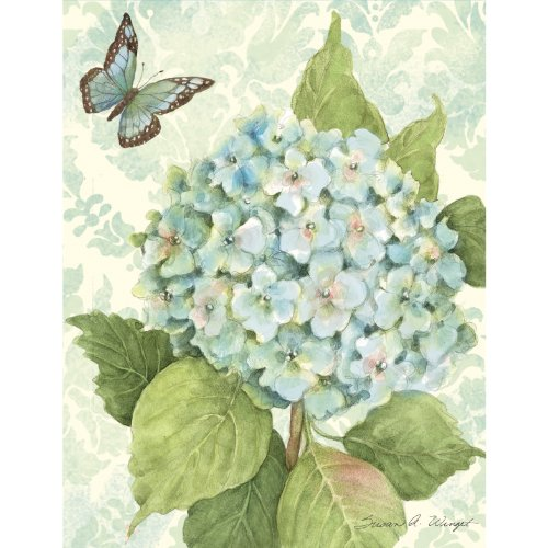 Lang Blue Hydrangea Boxed Notecard by Susan Winget, 4 x 5 Inches, 13 Cards and Envelopes