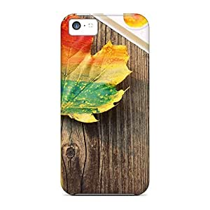 Series Skin Case Cover For Iphone 5c(leaf Painting)