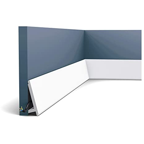 Zócalo Orac Decor SX179F MODERN DIAGONAL Moldura flexible Moldura para decoración de pared y techo moderno