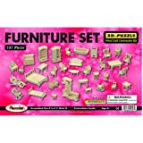 Wooden Dollhouse Furniture Set 3D Puzzle