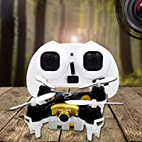 Fineser Cheerson CX-10C Mini RC Drone RC Quadcopter 2.4GHz 6-Axis Gyro 4-Channels Remote Control Drone with 0.3MP Camera (Black)