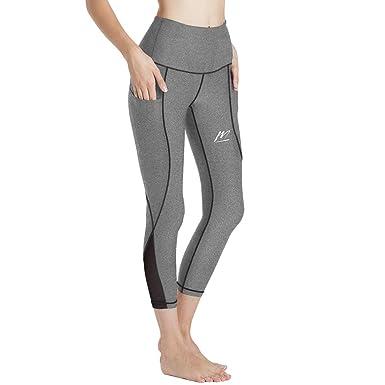 profiter de prix discount clair et distinctif différents types de MeetHoo Legging de Sport Femme, Pantalon de Yoga Longue Legging Sport 3/4  Taille Haute Fitness Pilates Jogging Collant Gym