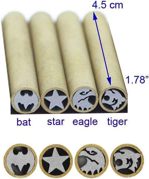 longitud 4,5 cm /águila clavijas de sujeci/ón de cuchillos de caza de 5 mm de di/ámetro clavo de tornillo de mosaico Remaches de mosaico para mango de cuchillo