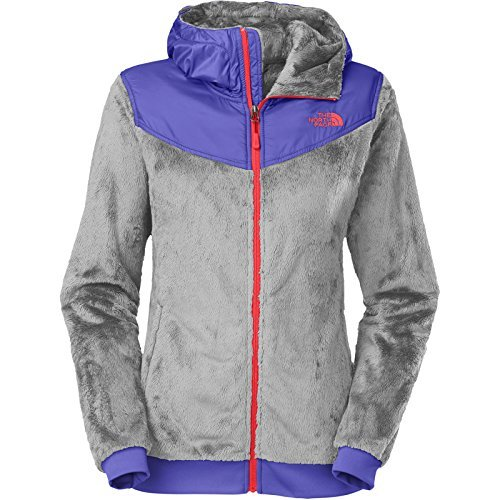 The North Face Oso Hoodie Womens Mid Grey/Starry Purple (Womens Oso Hoodie Jackets)