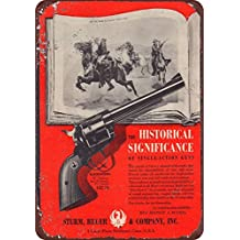 Sturm Ruger & Company .357 Magnum Blackhawk reproduction metal sign 8 x 12